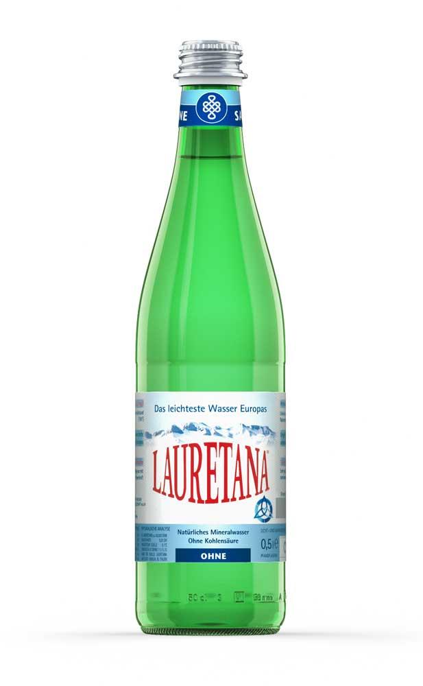 Lauretana 0,5l Flasche Glas